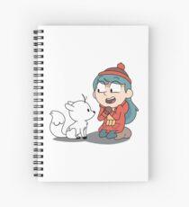 Cuaderno de espiral Hilda y ramita sentada
