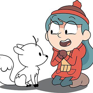 Hilda and twig sitting by Leezy-Loops