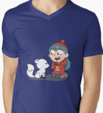 Hilda and twig sitting Men's V-Neck T-Shirt