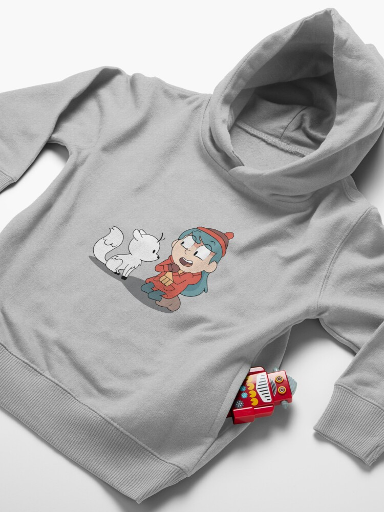 Alternate view of Hilda and twig sitting Toddler Pullover Hoodie