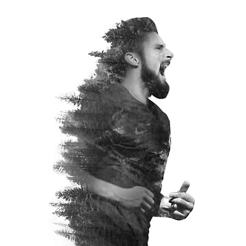 olivier giroud double exposure by moslemtv