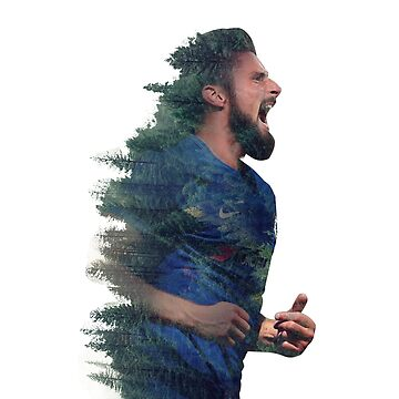 olivier giroud double exposure full colour by moslemtv