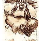 The Great Spirit- mixed media on paper by Donata Zawadzka