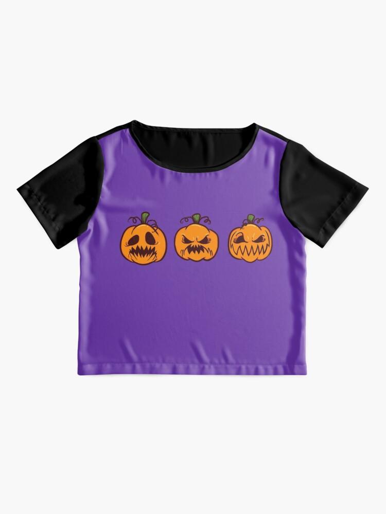 Alternate view of Mischievous Pumpkins Chiffon Top