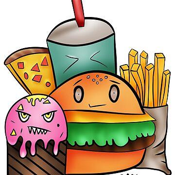 Yummy fastfood team by Melcu
