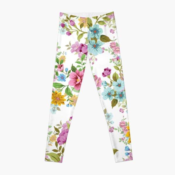 Seamless Floral Pattern Dresses Leggings