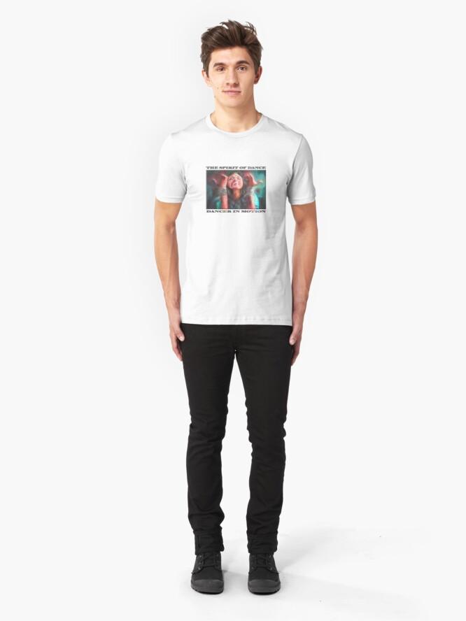 Alternate view of Dancer in Motion   (digital painting)      Slim Fit T-Shirt