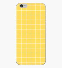 White Grid On Mustard Yellow iPhone Case
