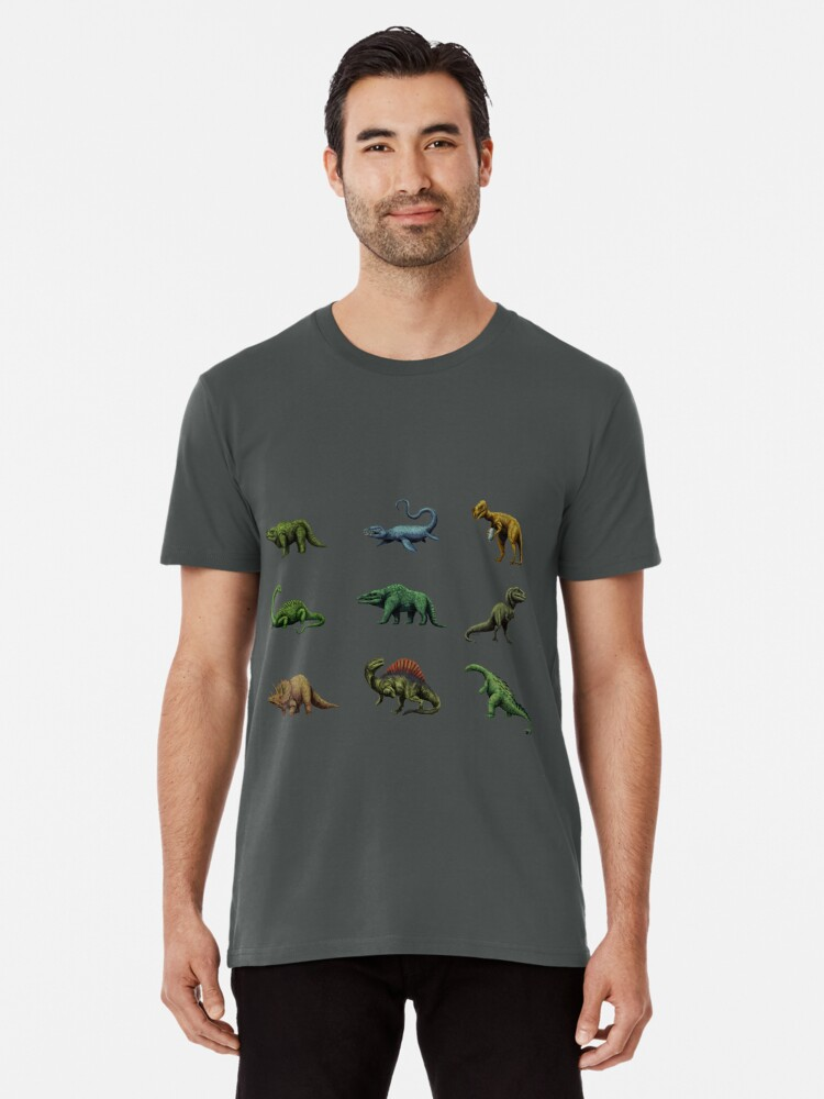 'Vintage Dinosaurs 1850s-1900s  Pattern and Poster' Premium T-Shirt by  mariolanzas
