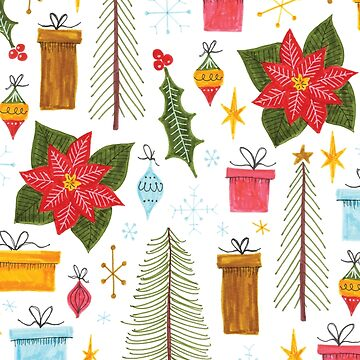 retro Christmas pattern by swoldham