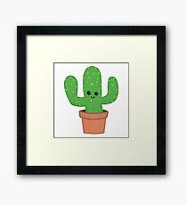 Cute Cactus Framed Print