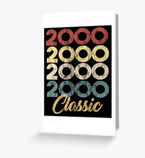 Distressed Retro Classic Born In 2000 19th Birthday Greeting Card