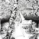 The Birch Maiden- ink illustration by Donata Zawadzka