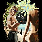 """""""SUN'S OUT"""" Retro Gym Bodybuilding Muscle Beach by anarkdesigns"""