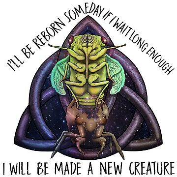 Cicada reborn with text by Tarajillian