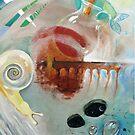 see through the Veils ...-acrylic painting on canvas by Donata Zawadzka