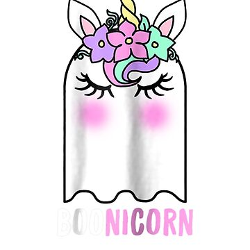 Funny Boonicorn Ghost Unicorn Halloween Girls by pigpro