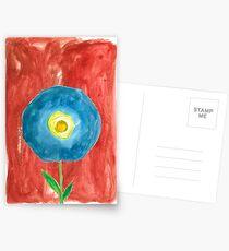 Blue Flower in Bold Wash Postcards