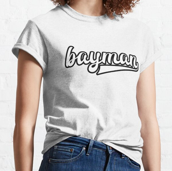 Bayman - White with black outline - Newfoundland Classic T-Shirt