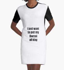 Borzoi Dog Lover Mom Dad Funny Gift Idea Graphic T-Shirt Dress