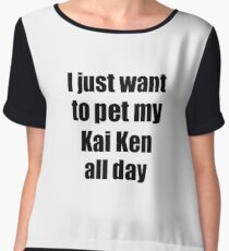 Kai Ken Dog Lover Mom Dad Funny Gift Idea Chiffon Top