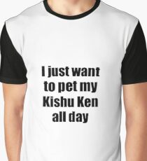 Kishu Ken Dog Lover Mom Dad Funny Gift Idea Graphic T-Shirt