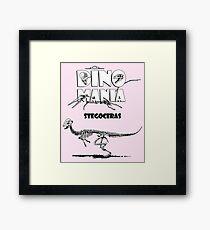 Dino Mania Stegoceras Framed Print
