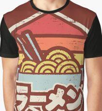 Retro Ramen Grafik T-Shirt
