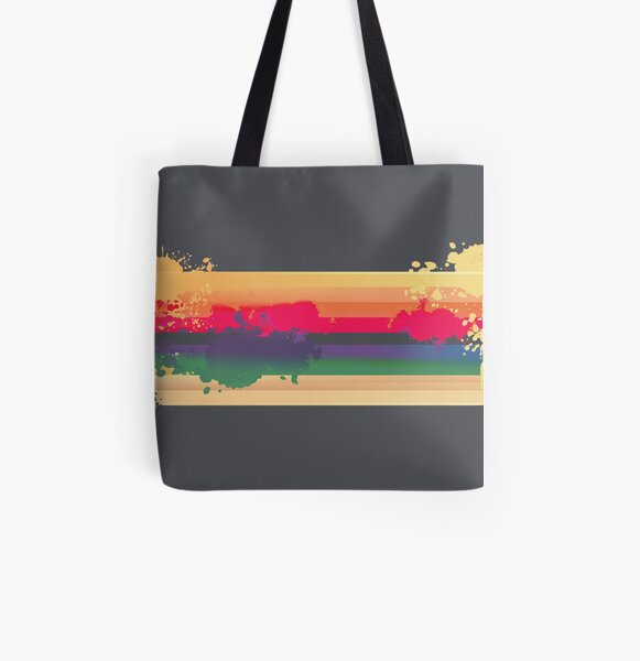 Expressive Rainbow All Over Print Tote Bag