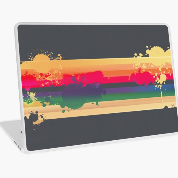 Expressive Rainbow Laptop Skin
