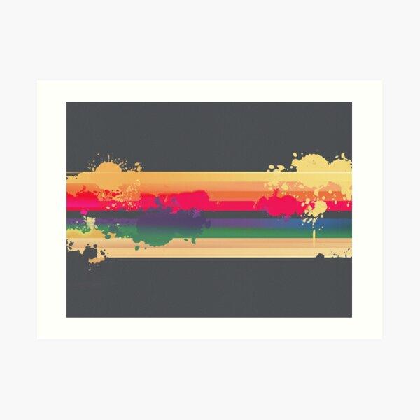 Expressive Rainbow Art Print