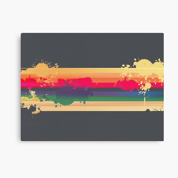 Expressive Rainbow Canvas Print