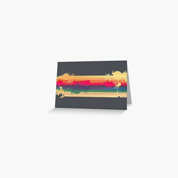 Expressive Rainbow Greeting Card
