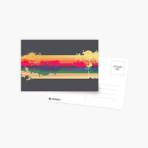 Expressive Rainbow Postcard