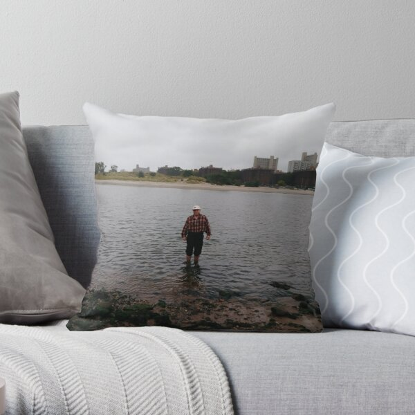 #beach #water #sea #lake #woman #nature #sky #summer #boy #ocean #walking #sand #fishing #young #couple #alone #landscape #people #child #river #vacation #sunset #travel #outdoors #walk Throw Pillow