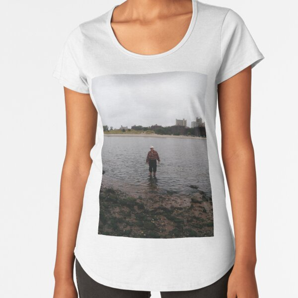 #beach #water #sea #lake #woman #nature #sky #summer #boy #ocean #walking #sand #fishing #young #couple #alone #landscape #people #child #river #vacation #sunset #travel #outdoors #walk Premium Scoop T-Shirt