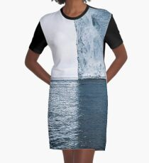 Ice Berg Shadow Graphic T-Shirt Dress