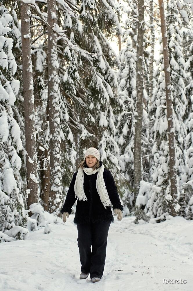 Women in forest by fotorobs
