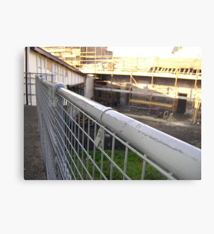 Lines Made Real (metal handrail & roofers' scaffolding) Metal Print