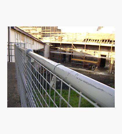 Lines Made Real (metal handrail & roofers' scaffolding) Photographic Print