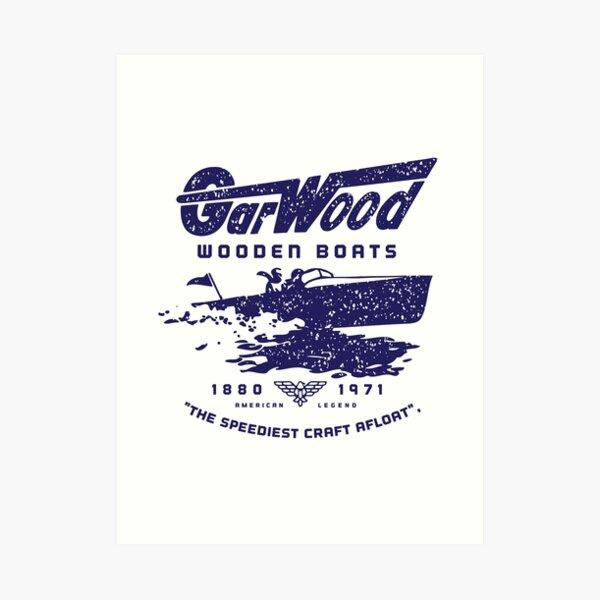 Gar wood vintage wooden boats  Art Print
