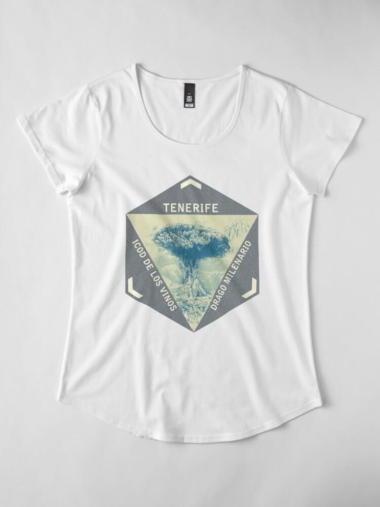 Alternate view of Tenerife Drago Milenario Premium Scoop T-Shirt