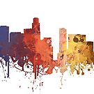 Los Angeles - Painted Skylines by DigitalShards