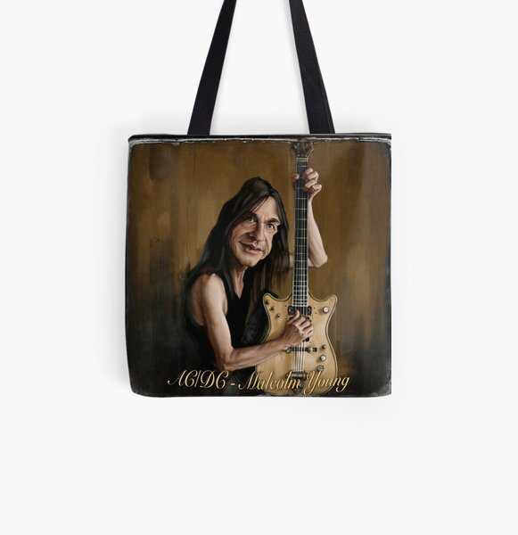 Malcolm Young All Over Print Tote Bag