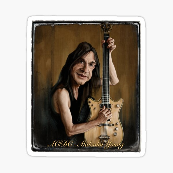 Malcolm Young Sticker