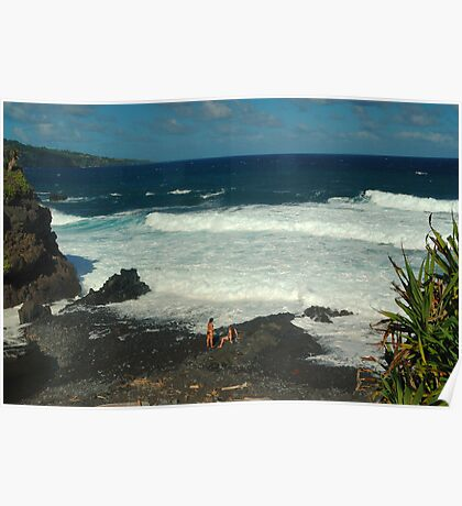 Volcanic Beach, Haleakala National Park, Maui Poster
