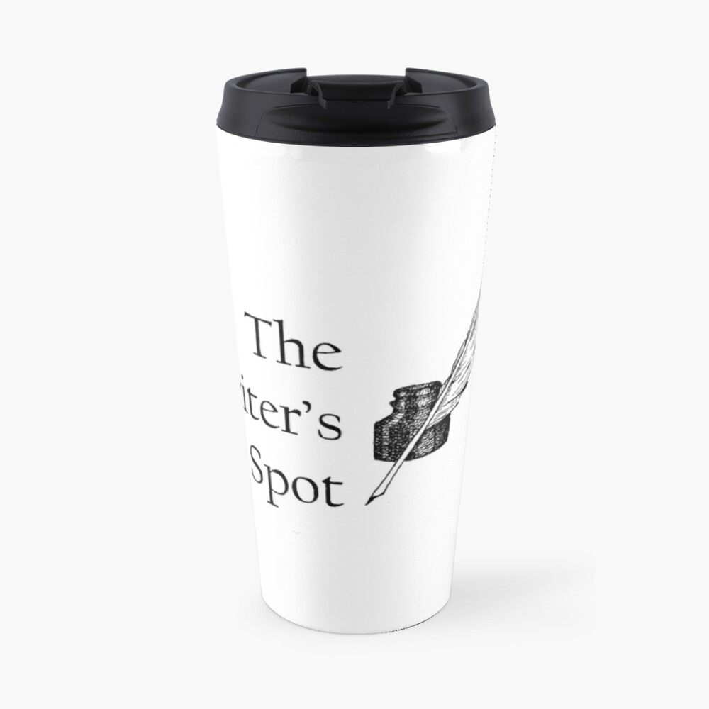 Writers Spot Quill Logo Travel Mug