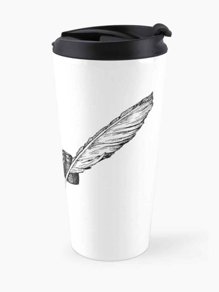 Alternate view of Writers Spot Quill Logo Travel Mug