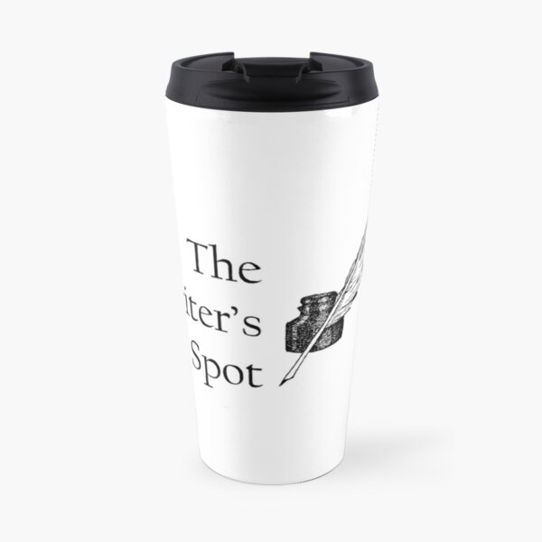 Writers Spot Quill Logo Travel Mug