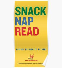Snack.  Nap.  Read.   Poster